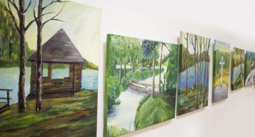 """Projekta """"Varavīksne pār Latgali"""" gleznu izstāde"""