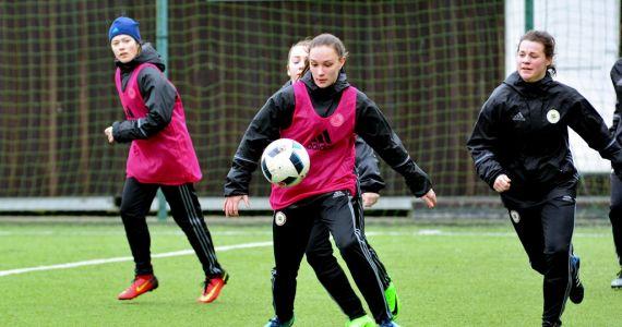 Latvijas WU-17 meiteņu futbola izlases selekcijas treniņš Rīgā