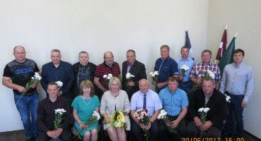 20. jūnijā plkst. 15.00 notika  novada  pašvaldības jaunievēlēto deputātu  domes sēde