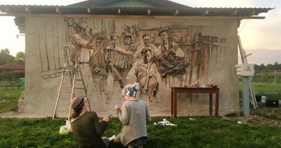 Kārsavas novada pagastos tapuši tematiski sienu gleznojumi