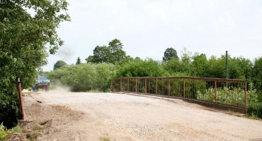 Uzsākts remonts tiltam pār Rītupi