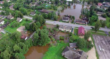 Pašvaldība aktīvi strādā pie plūdu radīto postījumu novēršanas