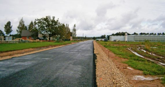 Pabeigti darbi ceļa posma pārbūvei Mežvidu pagasta Klonešnīkos