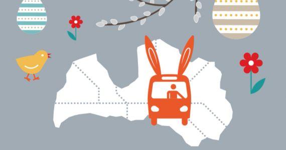 Lieldienu brīvdienās gaidāmas izmaiņas vairāk nekā 500 reģionālo autobusu maršrutu