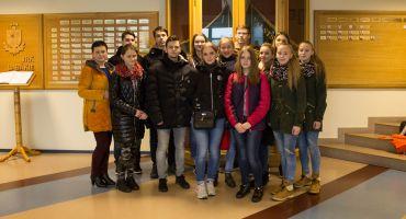 Kārsavas vidusskolas skolēni apmeklē Valsts robežsardzes koledžu