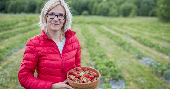 """Zemeņu audzētāja Marita Joņina: """"Ej, dari!"""""""