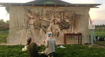 Tematiskie sienu gleznojumi rotā Kārsavas novada pagastus
