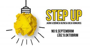 """Biznesa ideju konkurss """"STEP UP!"""" ir klāt, no 9.septembra – 9. oktobrim!"""
