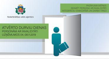 """NVA akcija """"Atvērto durvju diena personām ar invaliditāti uzņēmumos"""" - iespēja darba devējiem atrast vajadzīgos darbiniekus"""