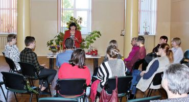 Tikšanās ar dzejnieci Annu Rancāni Kārsavā