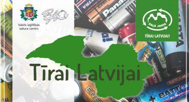 """Uzsāk izlietoto bateriju vākšanas kampaņu """"Tīrai Latvijai"""""""