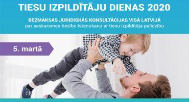 Tiesu izpildītāju dienās visā Latvijā sniegs bezmaksas juridiskās konsultācijas par vecāku un bērnu saskarsmes tiesībām