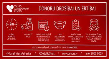 Svarīga inforācija tiem, kas vēlas ziedot asinis