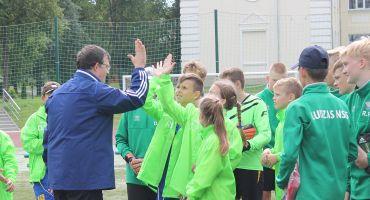 Treniņu spēles kopā ar Latvijas nacionālās futbola izlases galveno treneri Daini Kazakeviču