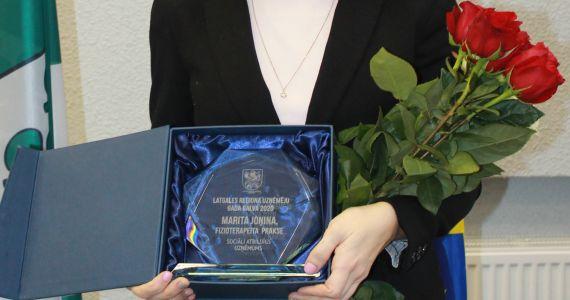'Latgales reģiona uzņēmēju gada balva 2020'' laureātu vidū Marita Jonina