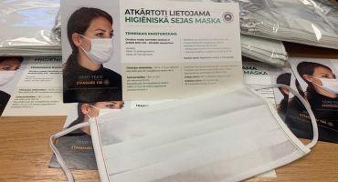 Atkārtoti lietojamas higiēnas sejas maskas mazaizsargātām  personām
