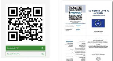Informācija par Covid-19 sertifikāta izdrukāšanu